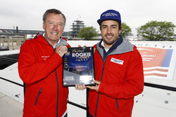 Fernando Alonso, Andretti Autosport Honda, with Johnny Rutherford