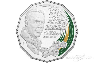 Sir Jack Brabham Royal Australian Mint coin
