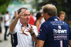 Paddy Lowe, Williams Teknik Direktörü ve Robert Fearnley, Sahara Force India F1 Team Takım Patronu Vekili