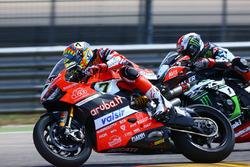 Chaz Davies, Ducati Team; Jonathan Rea, Kawasaki Racing