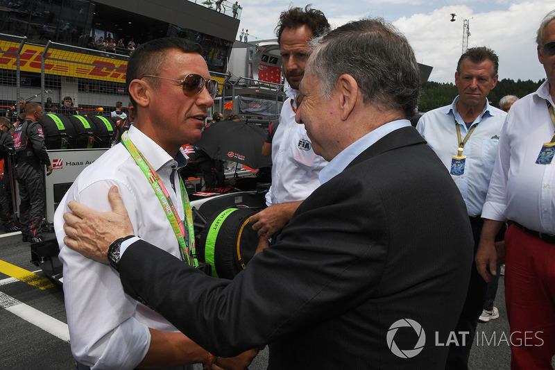 Frankie Dettori, Jockey; Jean Todt, FIA-Präsident