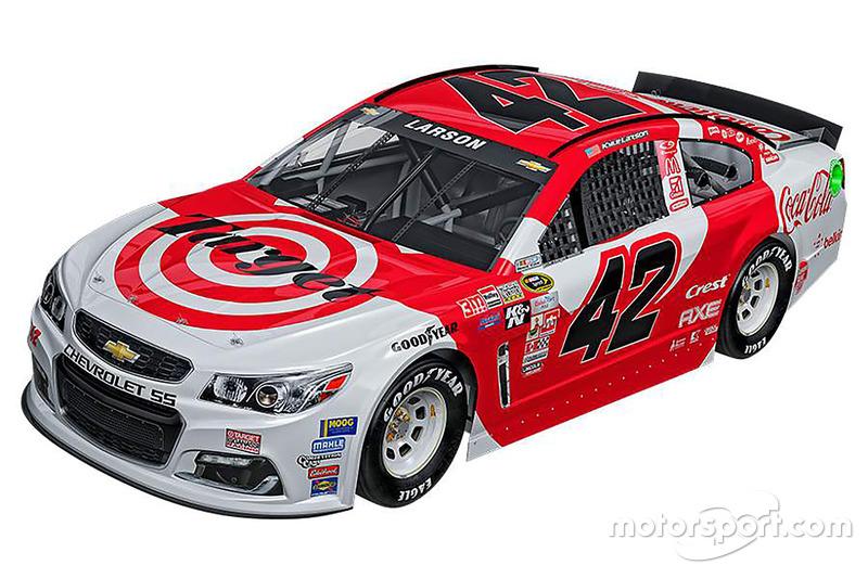 Kyle Larson, Chip Ganassi Racing Chevrolet special throwback scheme