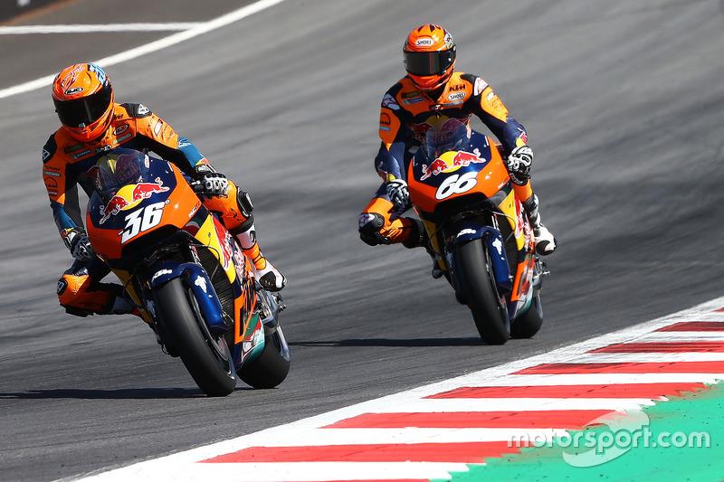 Demorunden von Mika Kallio und Alex Hoffmann, KTM MotoGP