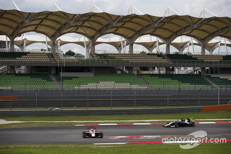Charles Leclerc, ART Grand Prix; Alex Palou, Campos Racing