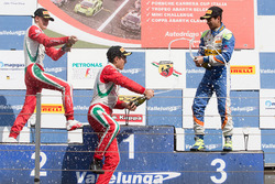 Race 3 podium: winner Juan Manuel Correa, Prema Powerteam, second place Mick Schumacher, Prema Powerteam, third place Kush Maini, BVM Racing