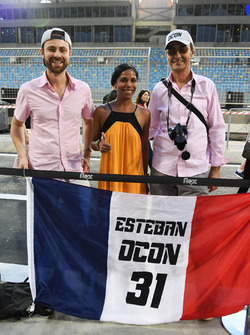 Esteban Ocon, Force India F1 fans and banner