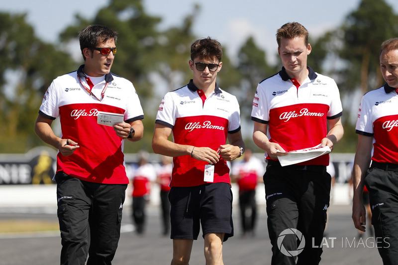 Charles Leclerc, Sauber, marche sur la piste
