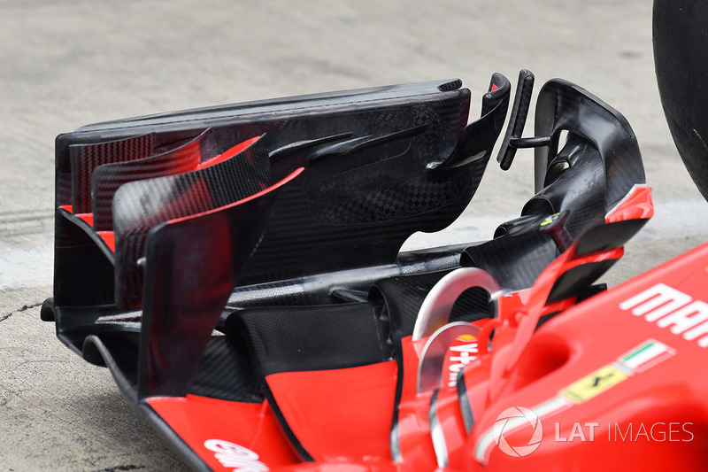 Ferrari SF71H detail voorvleugel
