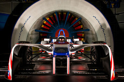 Coche de Fórmula E de Mahindra en el túnel de viento de Pininfarina
