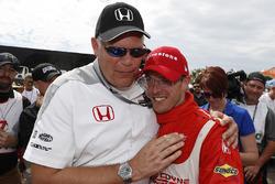 Art StCyr of Honda and Race winner Sébastien Bourdais, Dale Coyne Racing Honda