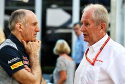 Руководитель команды Scuderia Toro Rosso Франц Тост и спортивный консультант Red Bull Хельмут Марко