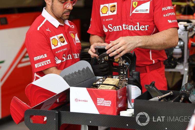 Étrier de frein de la Ferrari SF70H