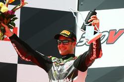 Podium: second place Jonathan Rea, Kawasaki Racing