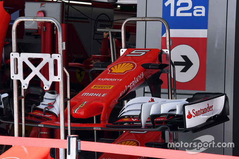 Ferrari SF70H nose and front wing