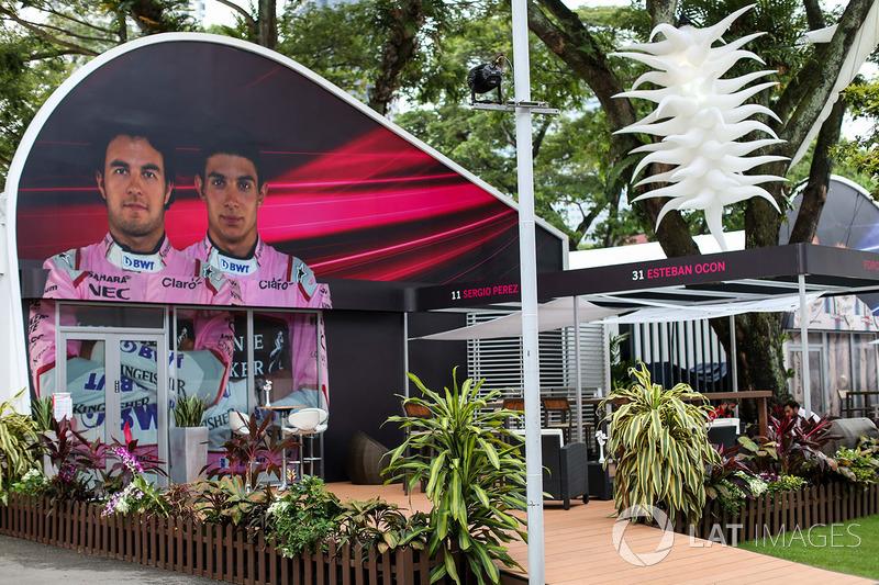 Sahara Force India, Teamgebäude im Fahrerlager