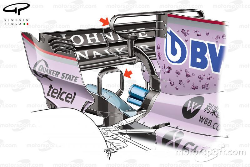 T-wing de la Force India VJM10 à Monaco