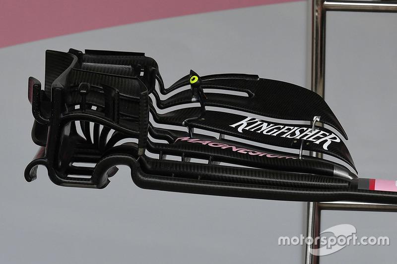 Détail de l'aileron avant de la Force India VJM10