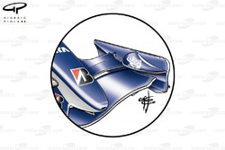 Williams FW28 front wing (single, smaller element cascade and reduced chord secondary flap)