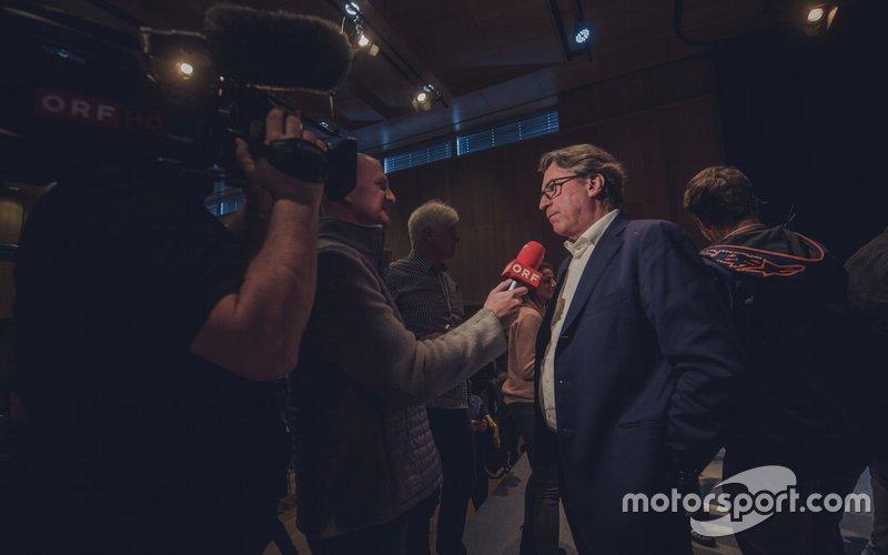 Stefan Pierer, CEO KTM Group, KTM Team launch presentation