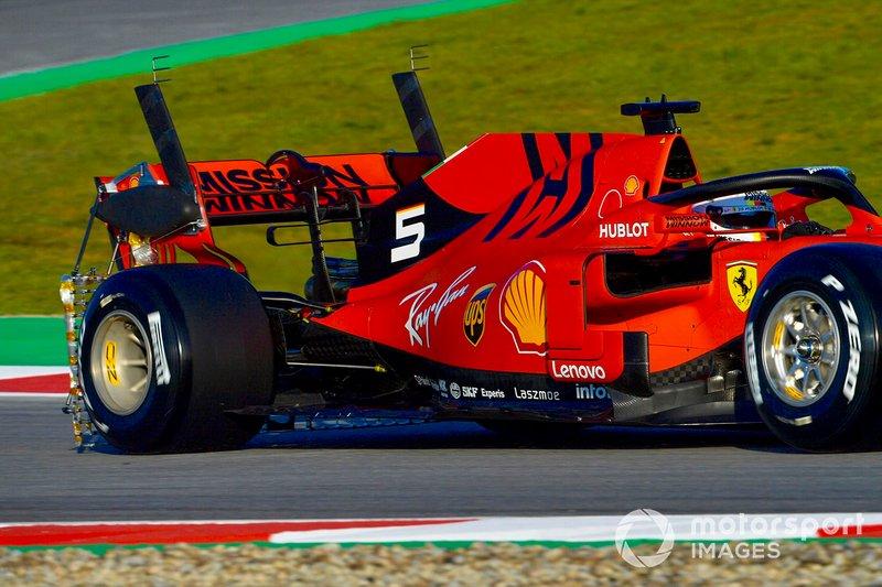 Ferrari SF90, con equipo de sensores