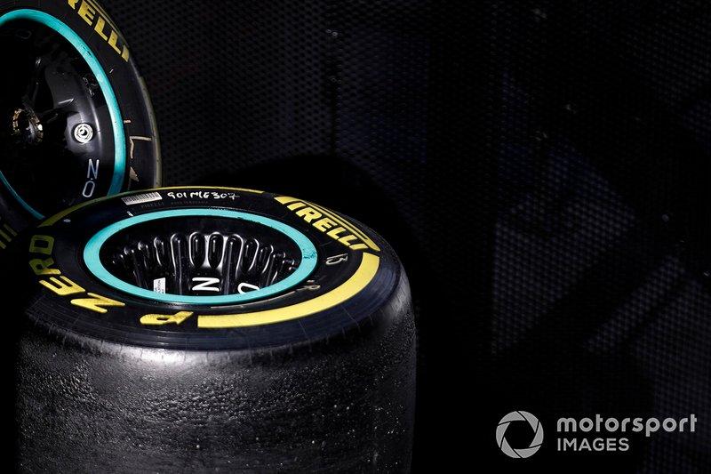 Mercedes-AMG F1 wheel rims and Pirelli tyres