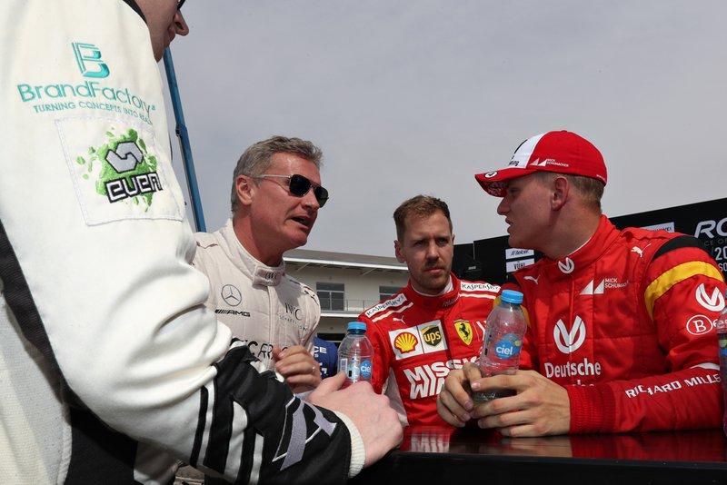 David Coulthard, Sebastian Vettel, Mick Schumacher