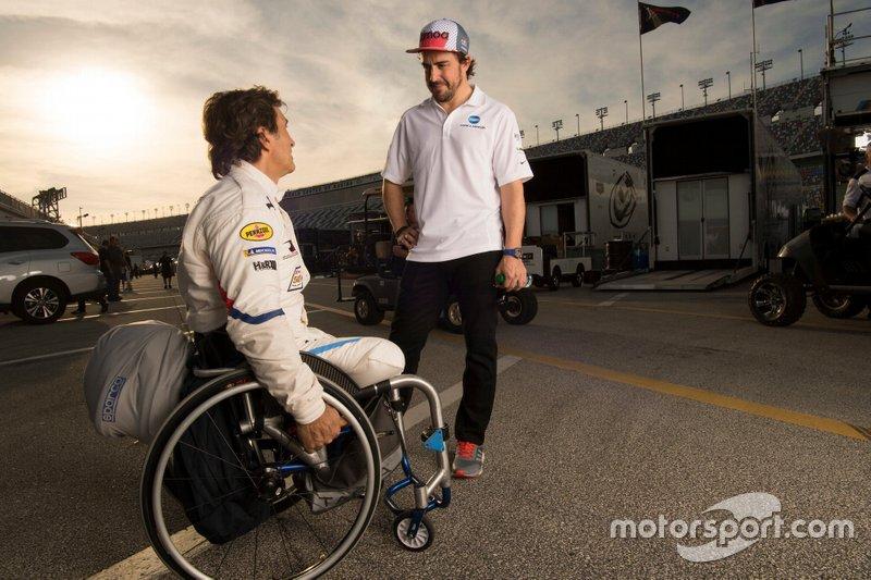 Alex Zanardi, BMW Team RLL, Fernando Alonso, Wayne Taylor Racing
