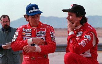 Ayrton Senna y Emerson Fittipaldi