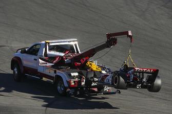 Graham Rahal, Rahal Letterman Lanigan Racing Honda, Crash
