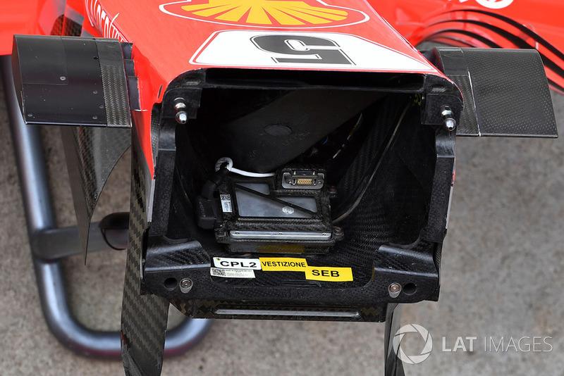 Detail hidung Ferrari SF-71H