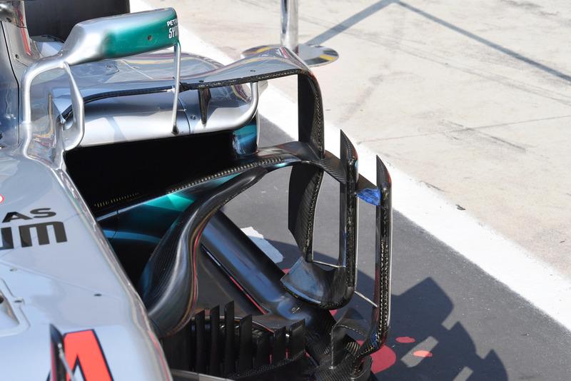 Bargeboard del Mercedes AMG F1 W09