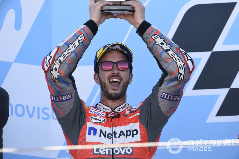 Подіум: друге місце Андреа Довіціозо, Ducati Team