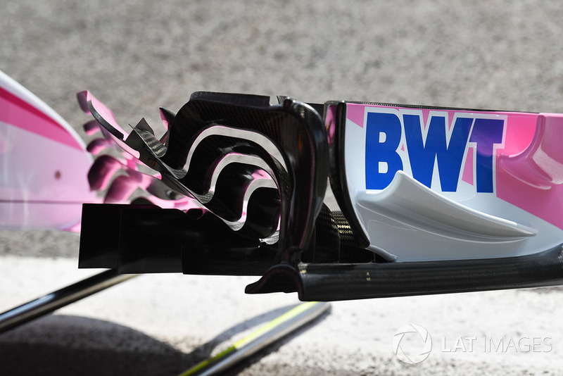 Force India VJM11 detalle del ala frontal