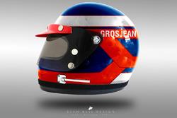 Romain Grosjean 1970's helmet concept