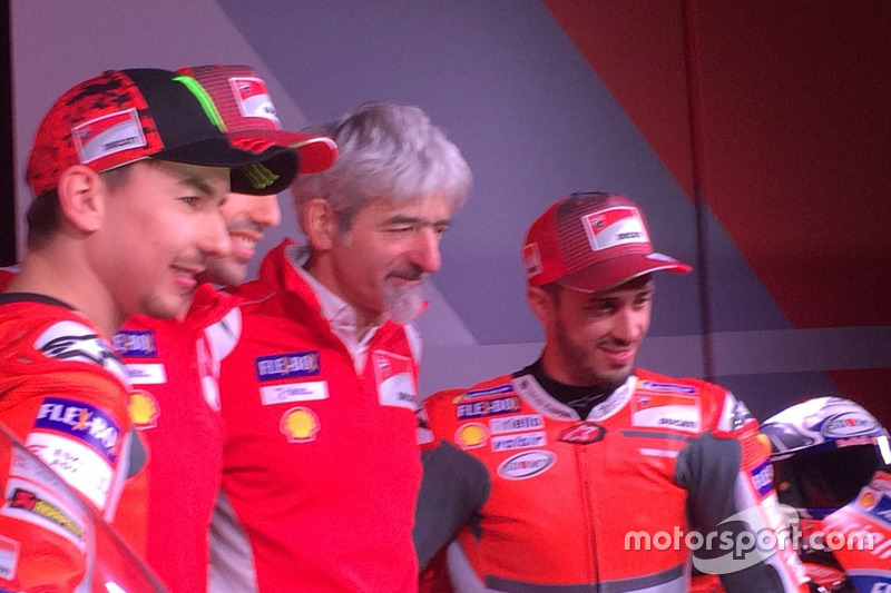 Jorge Lorenzo, Ducati Team, Michele Pirro, probador de Ducati, Gigi dall'Igna y Andrea Dovizioso, Du