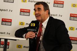 Nigel Mansell talks to Peter Windsor for Motorsport TV