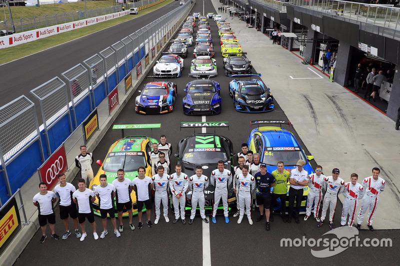 Groepsfoto van de auto's