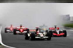 Rubens Barrichello, Honda RA106, alla partenza della gara
