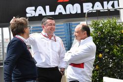 Eric Boullier, McLaren Yarış Direktörü ve Frederic Vasseur, Sauber, Takım Patronu