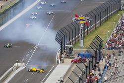 L'incidente di Helio Castroneves, Team Penske Chevrolet