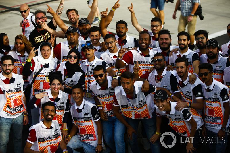 Marshals for the Bahrain Grand Prix
