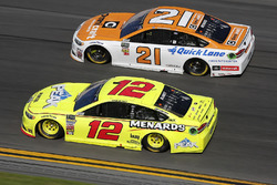 Paul Menard, Wood Brothers Racing Ford Fusion, Ryan Blaney, Team Penske Ford Fusion