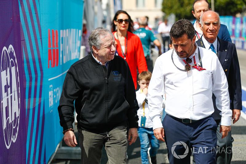 Jean Todt, Presidente FIA arriva al tracciato