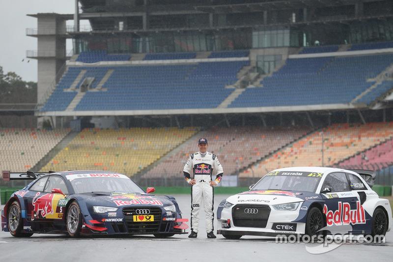 Mattias Ekström, mit seinem Audi RS5 DTM und Audi S1 WRX
