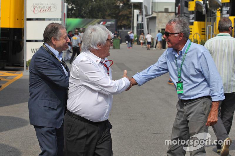 Jean Todt, FIA Basşkanı ve Bernie Ecclestone ve Cesare Fiorio,
