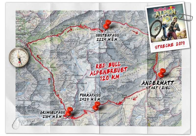 Red Bull Alpenbrevet, route 2019
