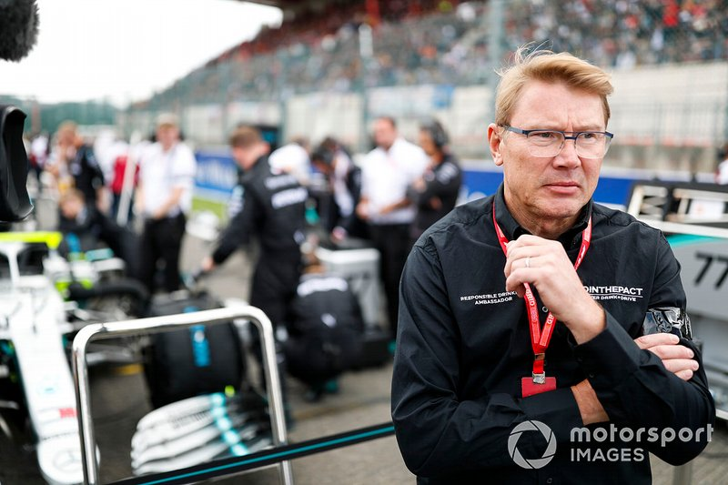 2 times world champion Mika Hakkinen on the grid