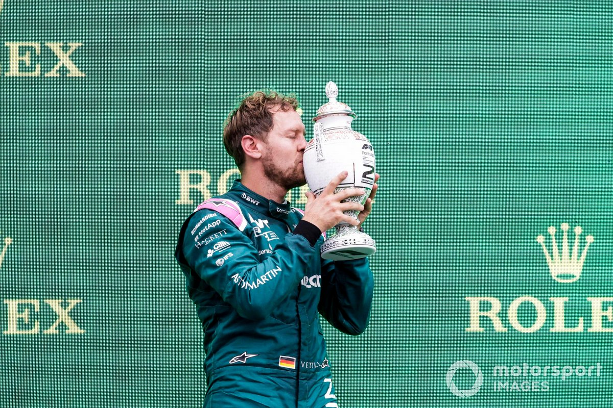 Will Vettel have to part ways with his runners-up trophy?