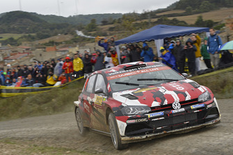 Erste Bewährungsprobe erfolgreich bestanden: der Polo GTI R5 in Aktion bei der Rallye Spanien