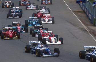 Start-Action beim GP Australien 1994 in Adelaide